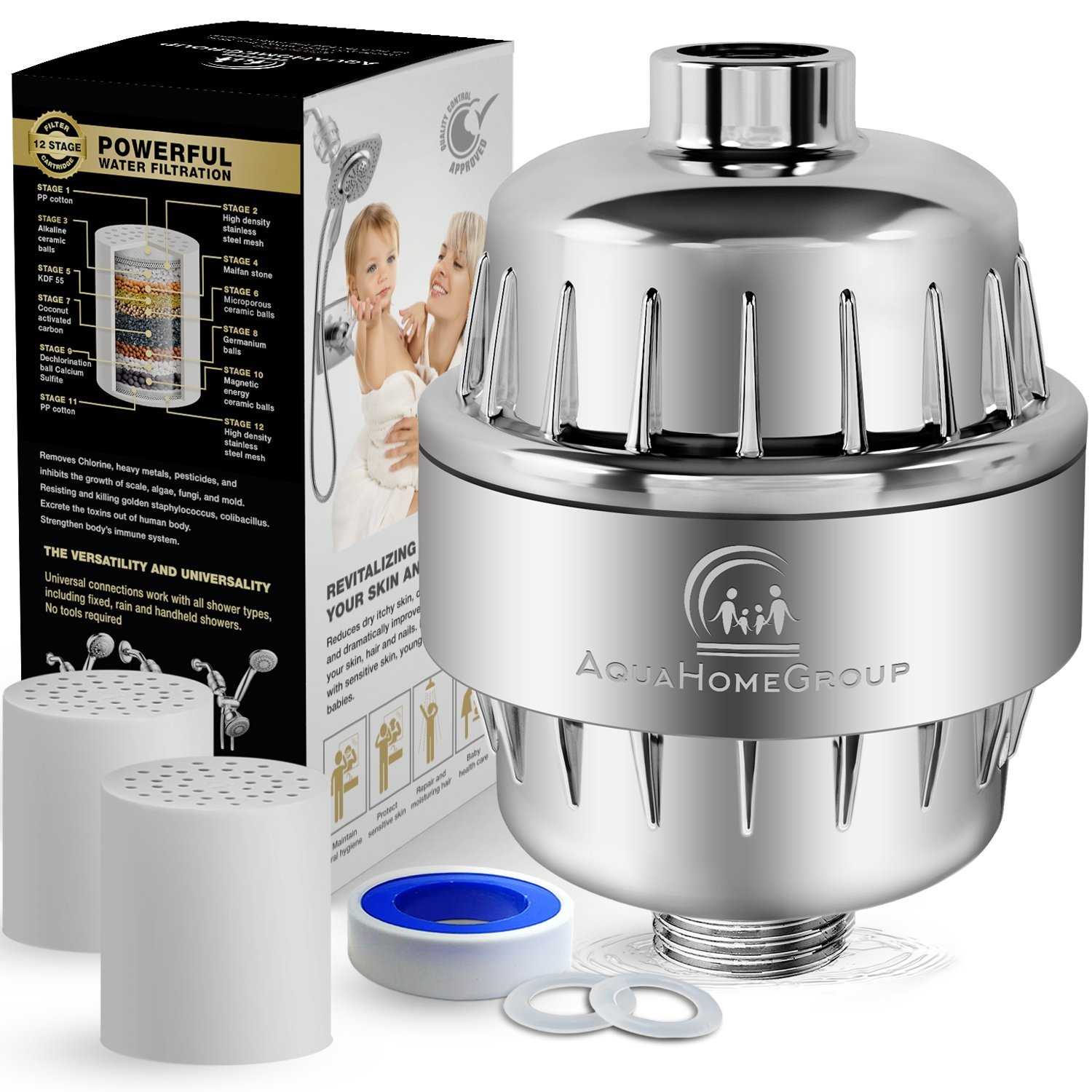 AquaHomeGroup12-Stage Shower Water Filter