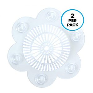 Stop-A-Clog Bathtub and Shower Drain Protector With Hair Catchers