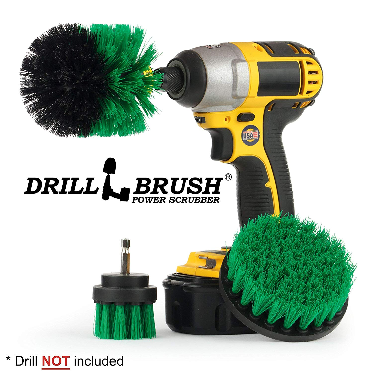 All Purpose Bathroom Surfaces Shower Power Scrubber by Drillbrush