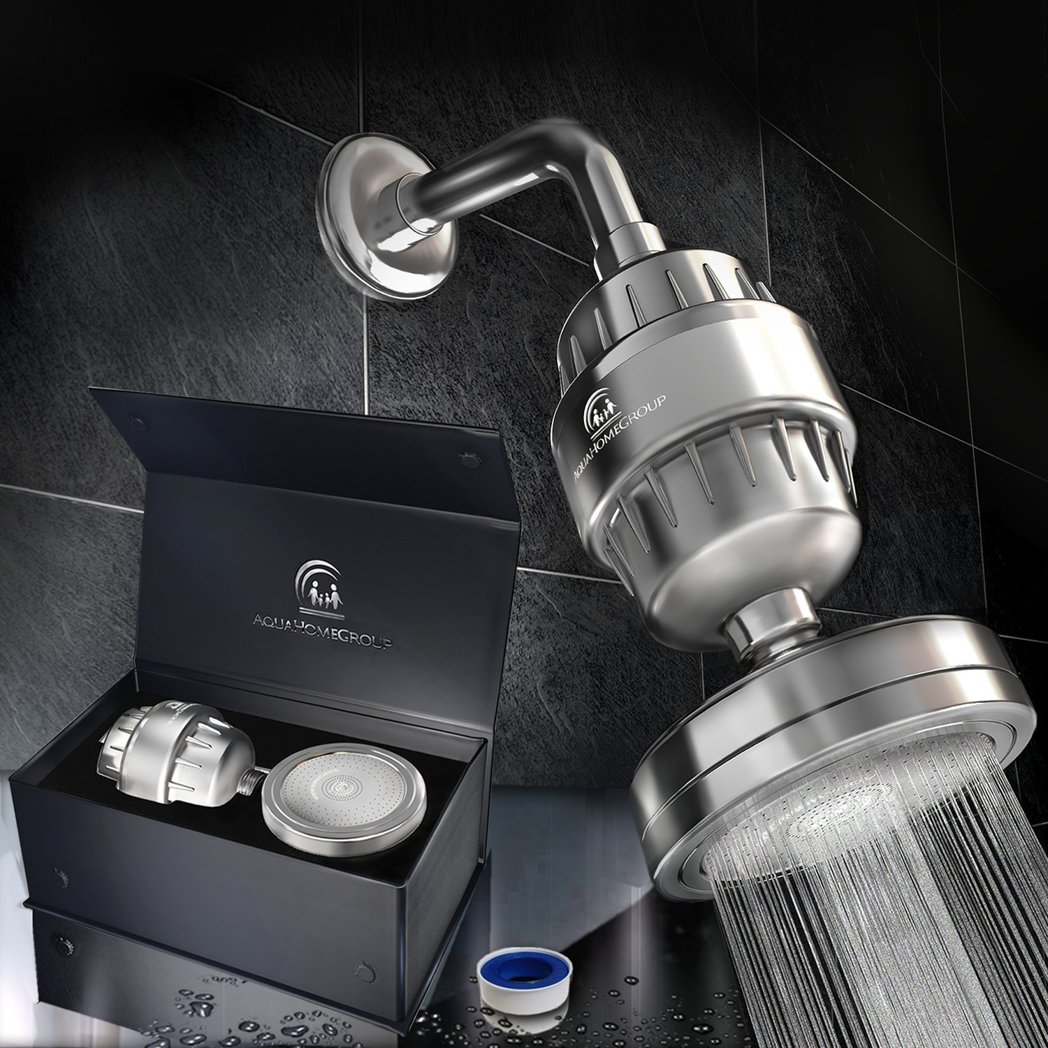 AquaHomeGroupLuxury Filtered Shower Head Set