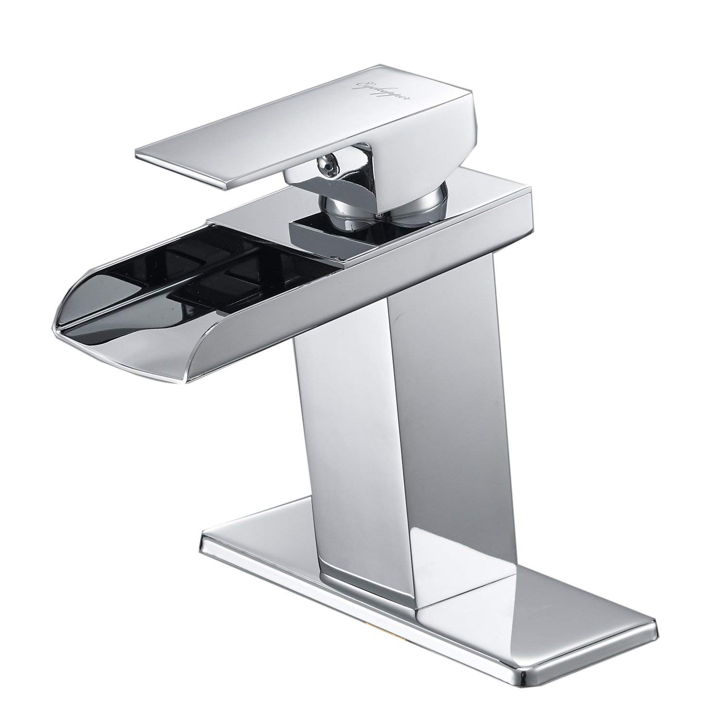 BWE Chrome Waterfall Bathroom Faucet