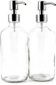 Cornucopia Brands 16-Ounce Clear Glass Boston Round Bottles