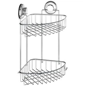 HASKO accessories - Suction Cup Corner Shower Caddy