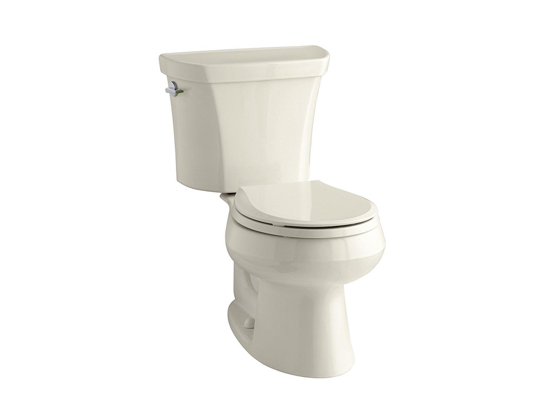 KOHLER K-3987-47 Wellworth Two-Piece Round Front Dual-Flush Toilet
