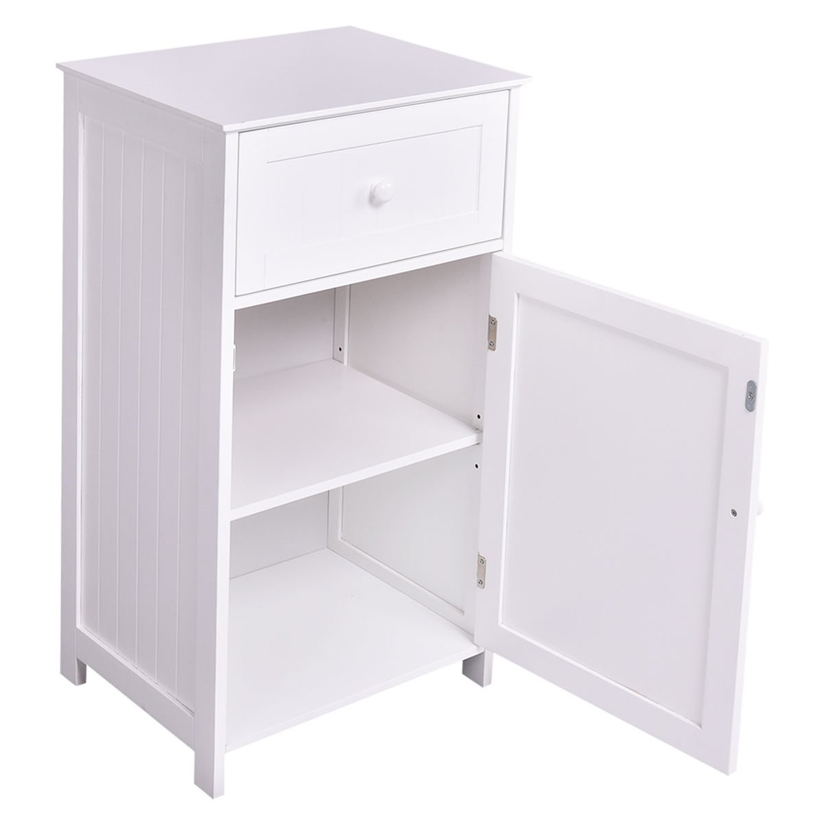 Tangkula Bathroom Floor Storage Cabinet