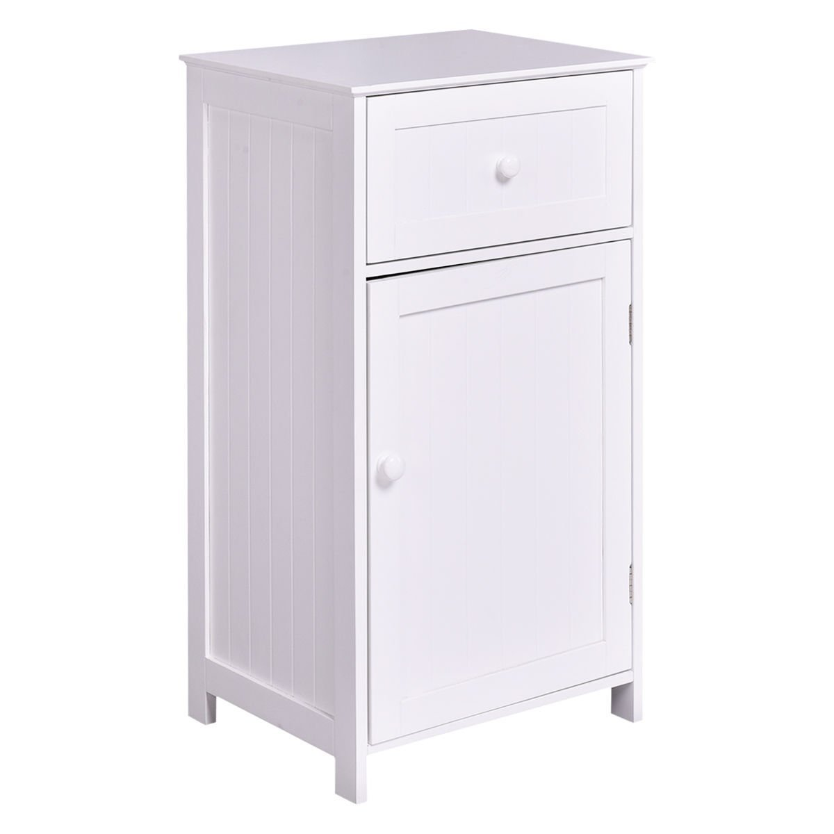 Tangkula Floor Storage Cabinet Bathroom