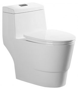 Woodbridgebath T-0019 Dual Flush Elongated One Piece Toilet